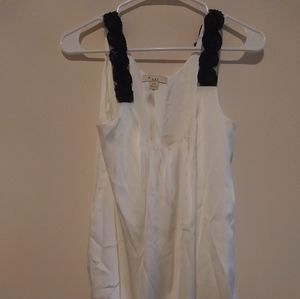 XXI white tank with black lace Size S